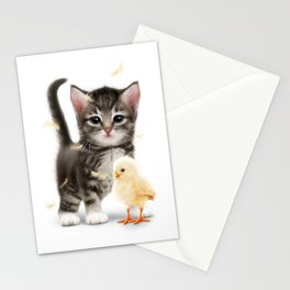 The PUSSYcat and the Chick Stationery Cards