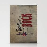 acdc Stationery Cards featuring For Those About To Rock by Even In Death