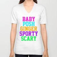 spice V-neck T-shirts featuring Spice by Jenn