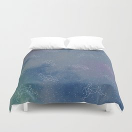 Animals in space Duvet Cover