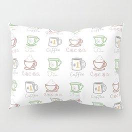 Hot Drinks (Color) Pillow Sham