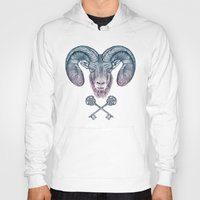 ram Hoodies featuring The Ram (Aries) by Rachel Caldwell