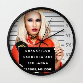 Rih Anna - Cube Canberra ACT Dragnation Season 2 Wall Clock