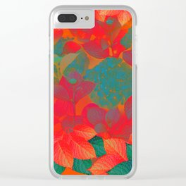 """Intense Pastel Hydrangeas-Passion"" Clear iPhone Case"