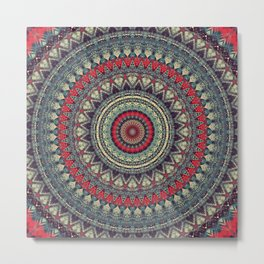 Earth Mandala 5 Metal Print