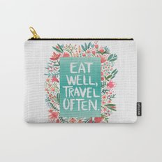 Eat Well, Travel Often Bouquet  Carry-All Pouch