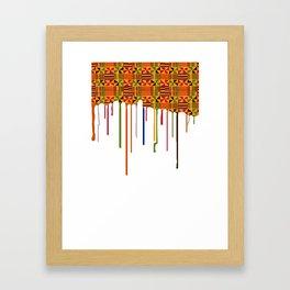 Zaina drip Framed Art Print