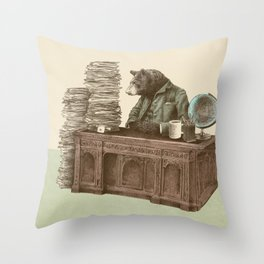 Bearocrat Throw Pillow