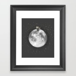 Lost in a Space / Moonelsh Framed Art Print