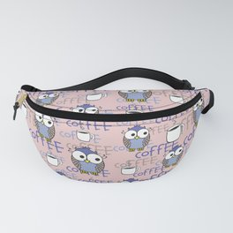Owls (blue and pink) Fanny Pack