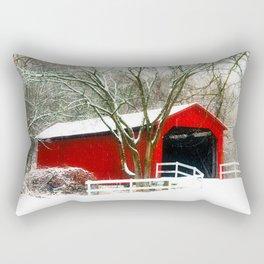 Sandy Creek Cover Bridge Rectangular Pillow