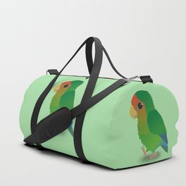 Cute peach faced lovebird Duffle Bag