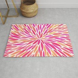 Watercolor Burst – Pink Ombré Rug