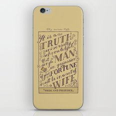 Jane Austen Covers: Pride and Prejudice iPhone & iPod Skin