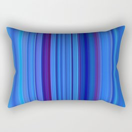 Stripes blue 3 Rectangular Pillow