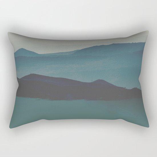 Blue valley Rectangular Pillow