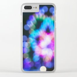 Abstract Ferris Wheel Lights Clear iPhone Case