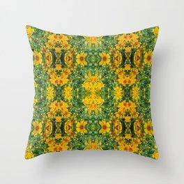 Kaleidoscopic Flower Pattern Throw Pillow