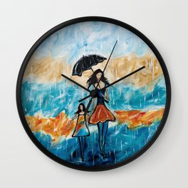 Rainy Day Blues Wall Clock