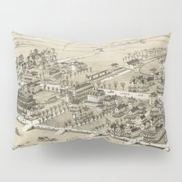 Vintage Pictorial Map of Sea Isle City NJ (1885) Pillow Sham