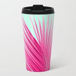 Pink Candy Cane Palm Travel Mug