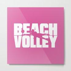 Beach volley Metal Print