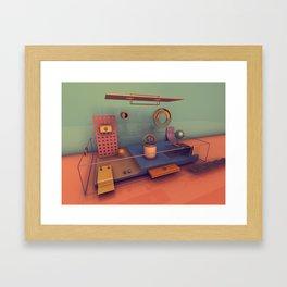 #01 Playground Boxes Framed Art Print