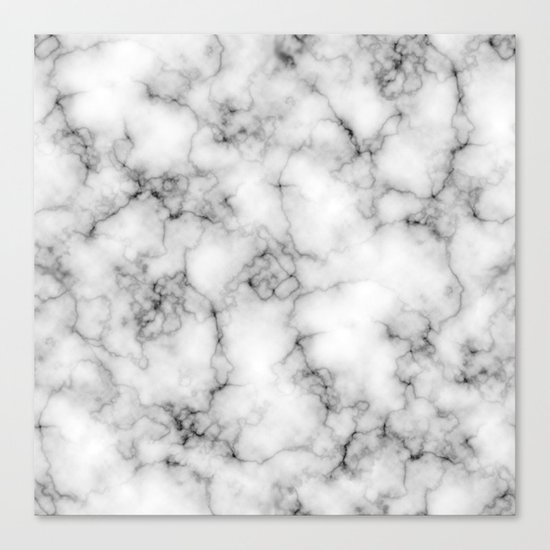 White Marble Texture Canvas Print