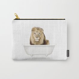 Lion in a Vintage Bathtub (c) Carry-All Pouch
