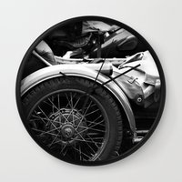 motorcycle Wall Clocks featuring motorcycle by Falko Follert Art-FF77