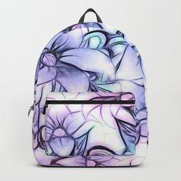 Violet pink teal hand painted sketch elegant floral Backpack