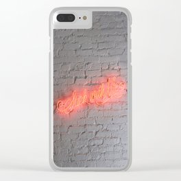 STICK WITH ME Clear iPhone Case