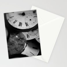 Time - Black and White Stationery Cards