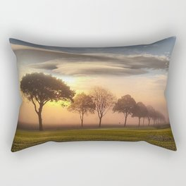 Big sky and clouds on a picture perfect night Rectangular Pillow