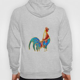 Colourful crowing Cockerel  Hoody