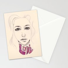 Lover not a Fighter Stationery Cards