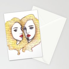 We are there for each other.  Stationery Cards