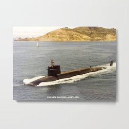 USS SAM HOUSTON (SSBN-609) Metal Print