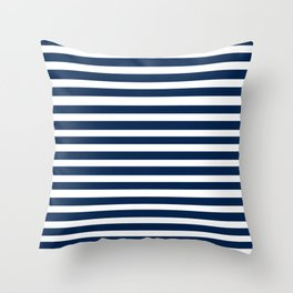 Navy-White ( Stripe Collection ) Throw Pillow