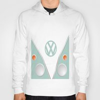 vw Hoodies featuring Simplistic VW by AshyGough
