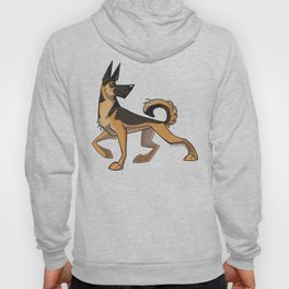 German Shepherd Caricature Hoody