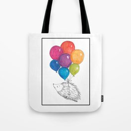 Soar - Rainbow Balloon Hedgehog Tote Bag