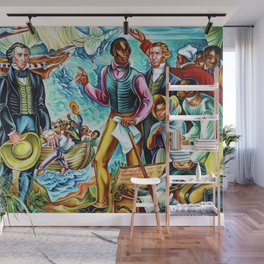 """African American Classical Masterpiece """"The Repatriation of the Freed Captives"""" by Hale Woodruff Wall Mural"""