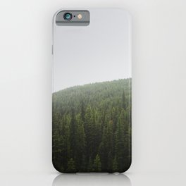 Foggy Pine Forest | Alberta | Canada Landscape iPhone Case