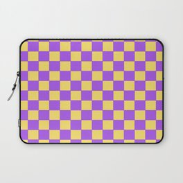 Checkers - Purple and Yellow Laptop Sleeve