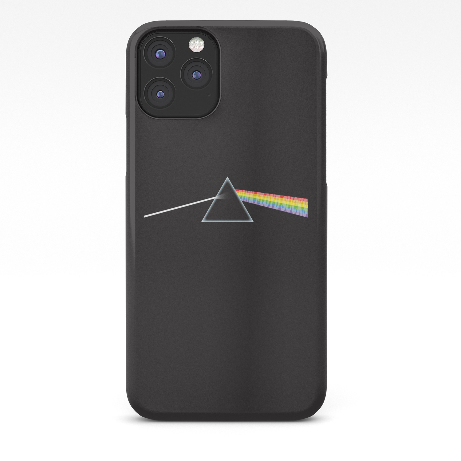 Pink Floyd Sucks Parody Design Of The Dark Side Of The Moon Cover Iphone Case By Kelmo Society6