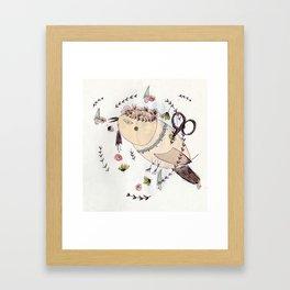 Mr Wind up Bird Framed Art Print