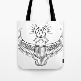 Ancient Egyptian Penta-Scarab Tote Bag