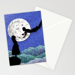 fly me to the moon 1 Stationery Cards