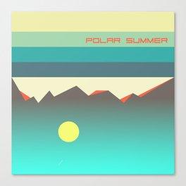 Polar summer - upside down world Canvas Print